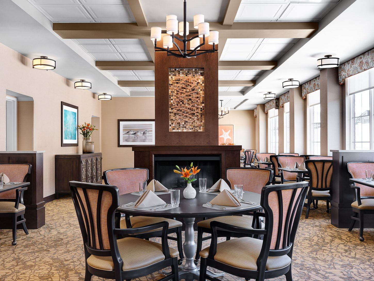 Senior Living Interior Design Furniture Procurement Art Dining