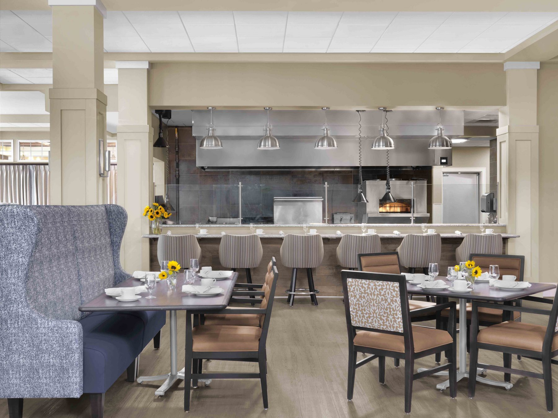 Senior Living Interior Design Furniture Procurement Kitchen Dining
